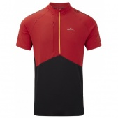Ronhill trail s.s zip tee with polygiene  / Футболка